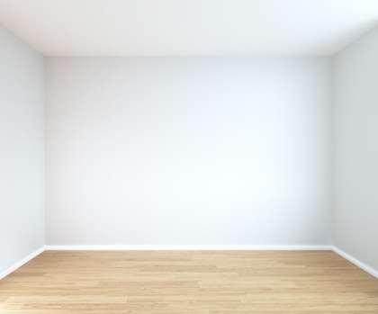 interior of empty room with grey wall